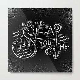 Into-The-Sea Metal Print