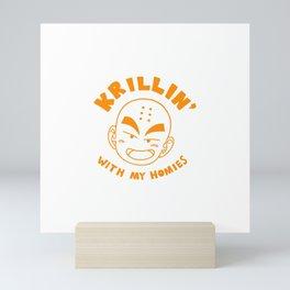 Krillin With My Homies Mini Art Print