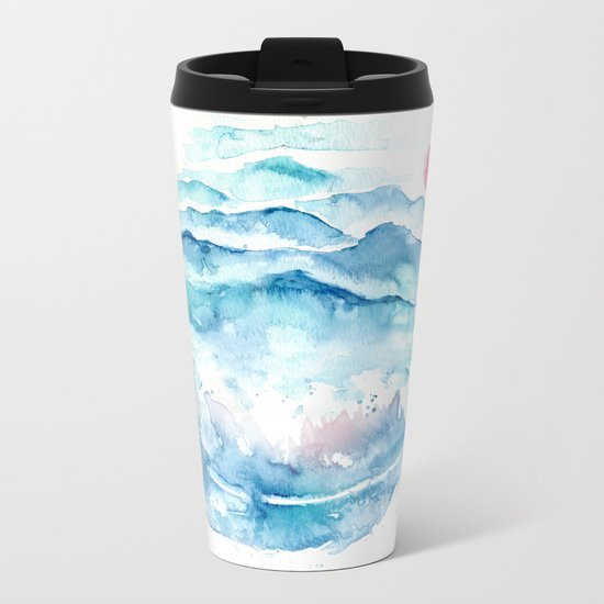 As If the World I Carry Could Crush Me Metal Travel Mug