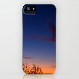 Sunset over the roofs iPhone Case
