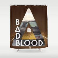 bastille Shower Curtains featuring Bastille #3 by Thafrayer