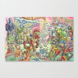 Four Horsemen of the 80s Toypocalypse Canvas Print