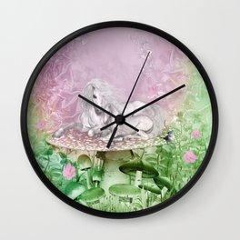 Wonderful unicorn with foal Wall Clock