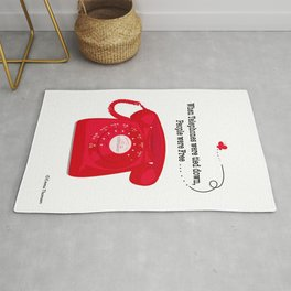 When Telephones Were Tied Down - Red Rug
