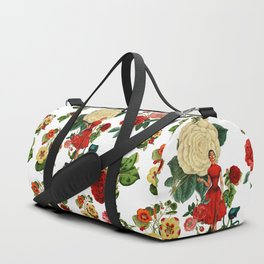 Keep it clean floral collage Duffle Bag