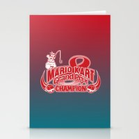 mario kart Stationery Cards featuring Mario Kart 8 Champion by Kody Christian