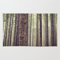 forest Area & Throw Rugs featuring Forest by Kurt Rahn