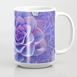 """Bouquet of pastel violet exotic succulents"" Coffee Mug"