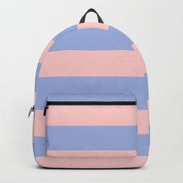 Light pink and blue stripes Backpack