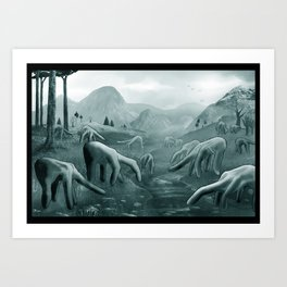 Handscape Art Print