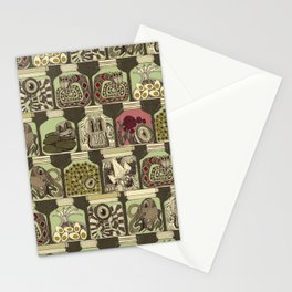 weird pickles vintage Stationery Cards