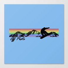 Off Piste Snowboard Canvas Print
