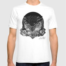 Night Owl Mens Fitted Tee White MEDIUM