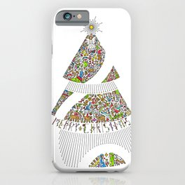 Christmas Tree / Nativity Scene iPhone Case