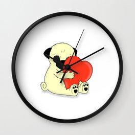 PugHugs Wall Clock