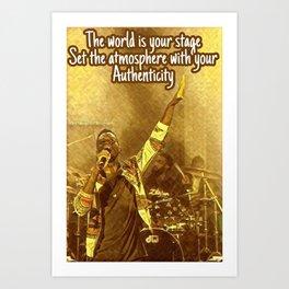 Poetry Post Card Art Print