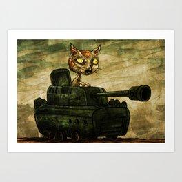Tank Cat Art Print