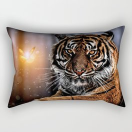 The Tiger and the Magic Butterfly by GEN Z Rectangular Pillow