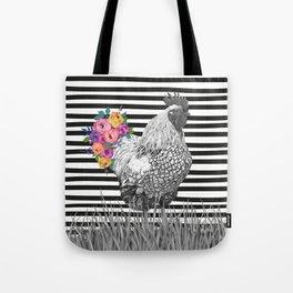 Chicken Bouquet Tote Bag
