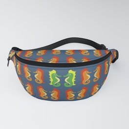 Stand Out - Seahorses - Pattern of Ocean Life - Bathroom Art Fanny Pack