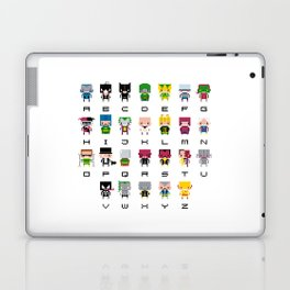 Pixel Supervillain Alphabet 2 Laptop & iPad Skin