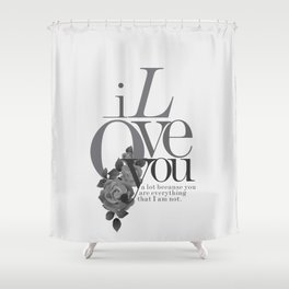 You Complete Me II - LOVE #society6 #love #buyart Shower Curtain