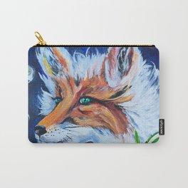 """""""Fancy Fox"""" Fox Art Carry-All Pouch"""
