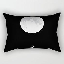 Aim for the moon, kid! Rectangular Pillow