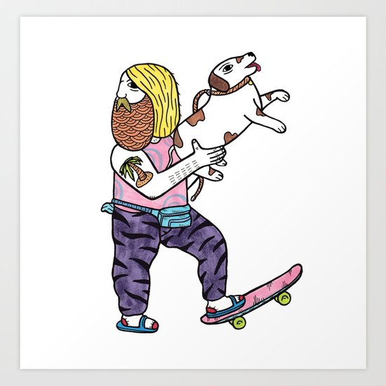 On the topic of Rad Dad Dog owners Art Print