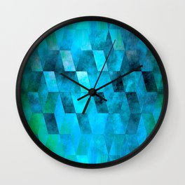 Stacked Sky (blue) Wall Clock