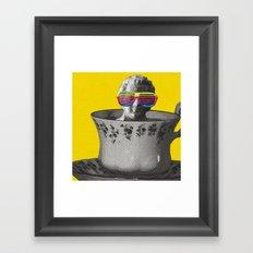 Fancy a cup of genius? Framed Art Print