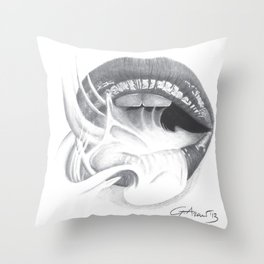 Dipendenza / Dependence - Smoke Lips - Mouth Throw Pillow