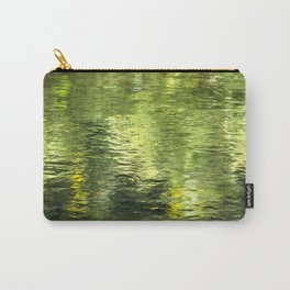 Green Water Abstract Art Carry-All Pouch