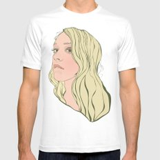Chloe Sevigny Mens Fitted Tee White MEDIUM