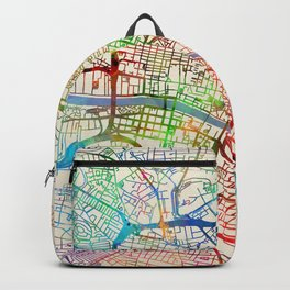 Glasgow Street Map Backpack