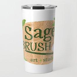 Sage Brush Art Studio Logo - White Travel Mug