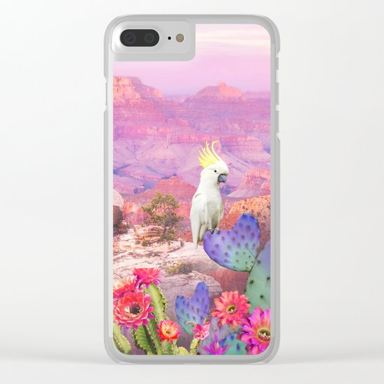 Flowers in the desert Clear iPhone Case