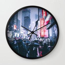 NYC Neon Winter Wall Clock