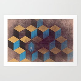 Cubes and Crystals Art Print