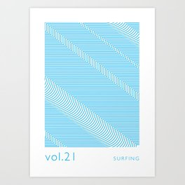 Let's surf Art Print