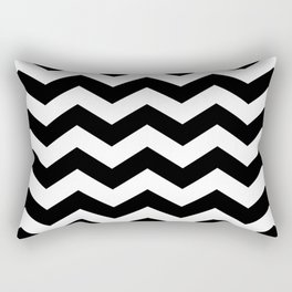 Black And White Zigzag Chevron Rectangular Pillow