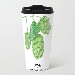 Beer Hops Botanical Painting Travel Mug
