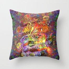Mask of joy Throw Pillow
