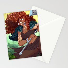 Red Head Warrior Stationery Cards