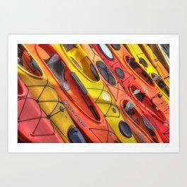 Kayak Art Art Print