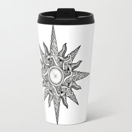 Surf in a Windrose – Compass (tattoo style) Travel Mug