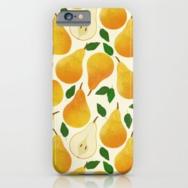 Golden Pears Pattern iPhone Case
