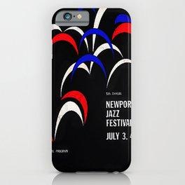 1958 Newport Jazz Festival Vintage Advertisement Poster Newport, Rhode Island iPhone Case