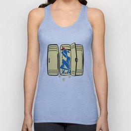 Blue (is shoved in a locker) Unisex Tank Top