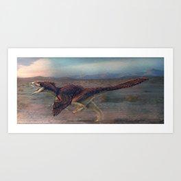 Dakotaraptor Restored Art Print
